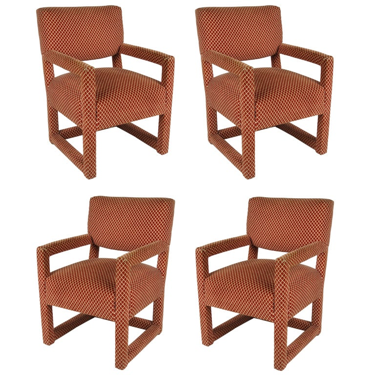 Set of Four Billy Baldwin Style Armchairs