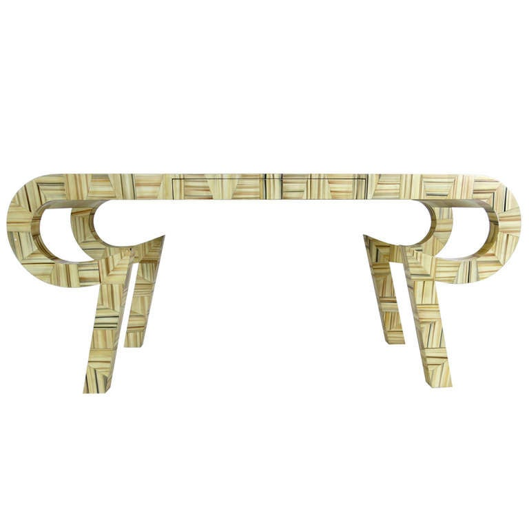 Sculptural Console or Desk in the Style of Karl Springer
