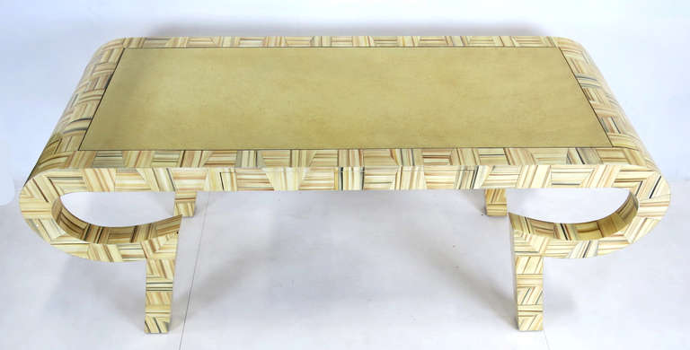 Modern Sculptural Console or Desk in the Style of Karl Springer For Sale