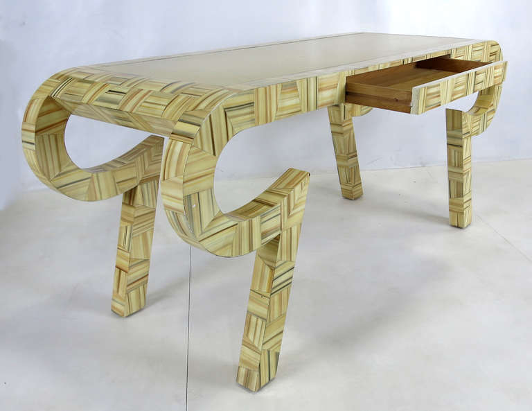 American Sculptural Console or Desk in the Style of Karl Springer For Sale