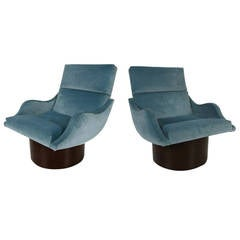 Pair of Swivel Lounge Chairs