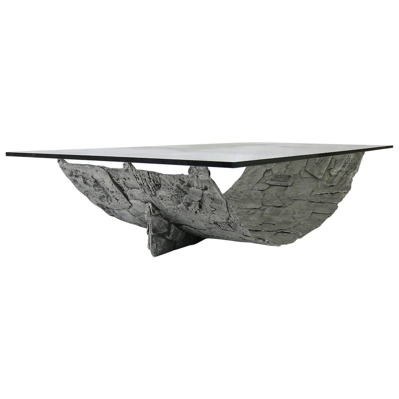 Monumental Aluminum Brutalist Coffee Table