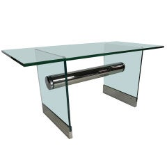 Chrome and Glass Desk