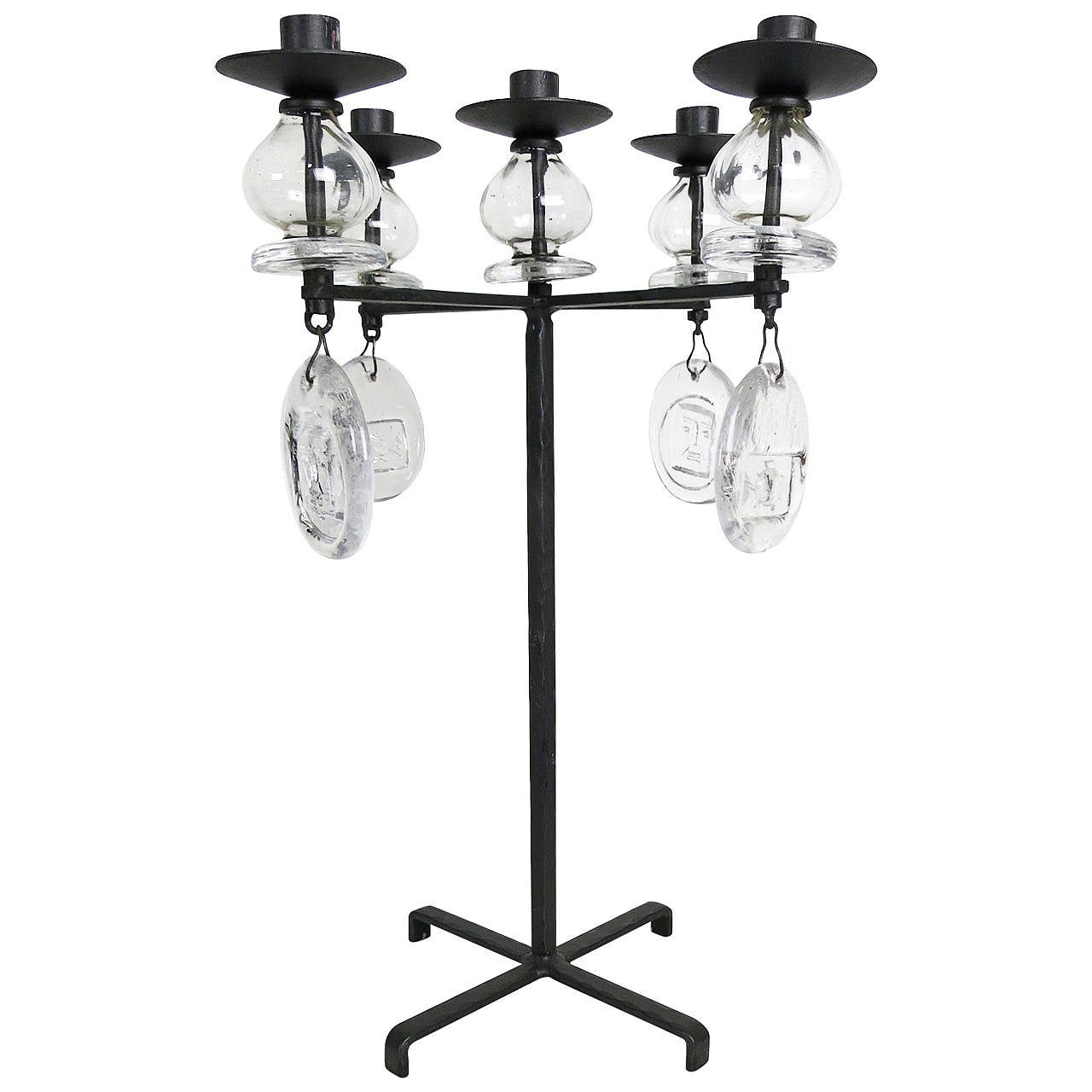 Large Candelabrum by Erik Hoglund for Kosta Boda For Sale