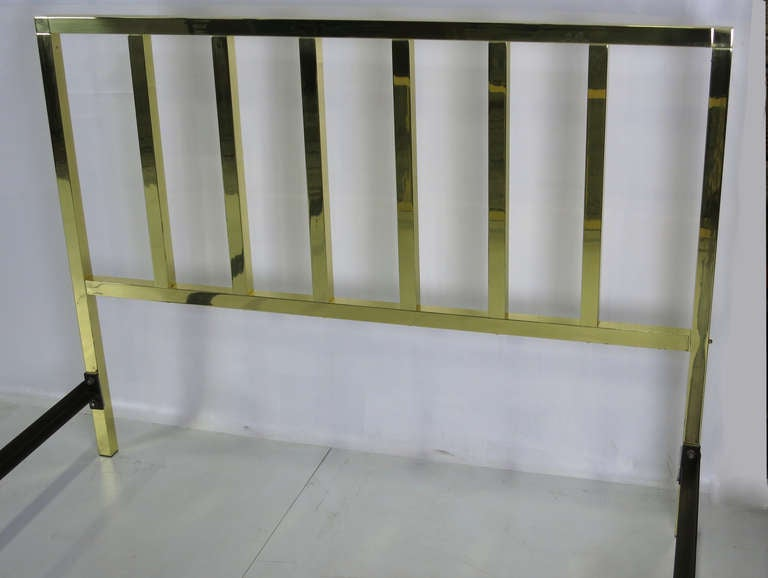 modernist polished brass queen bed frame at stdibs, Headboard designs
