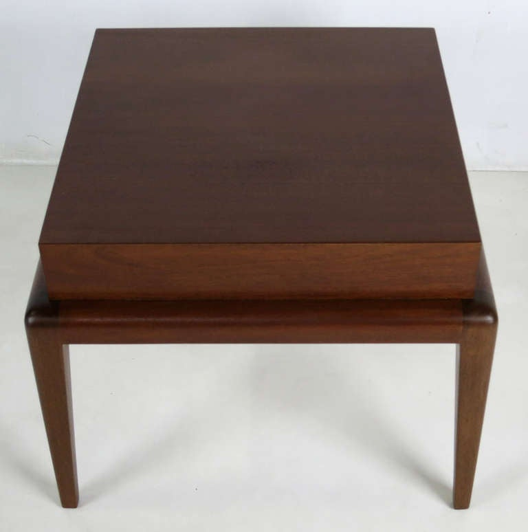 Modern Pair of Mahogany Side Tables by Seth Ben-Ari For Sale