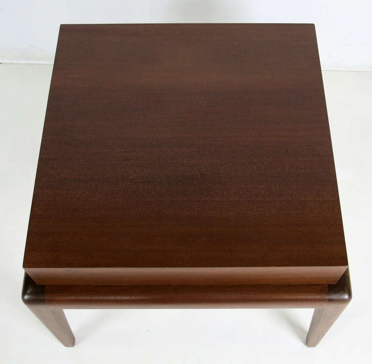 Pair of Mahogany Side Tables by Seth Ben-Ari In Excellent Condition For Sale In San Leandro, CA