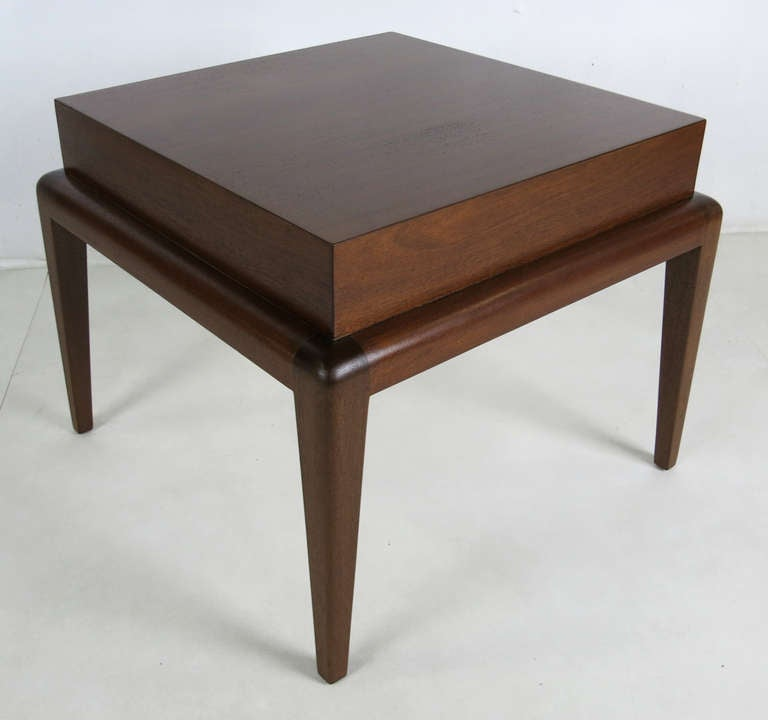 Pair of Mahogany Side Tables by Seth Ben-Ari For Sale 1