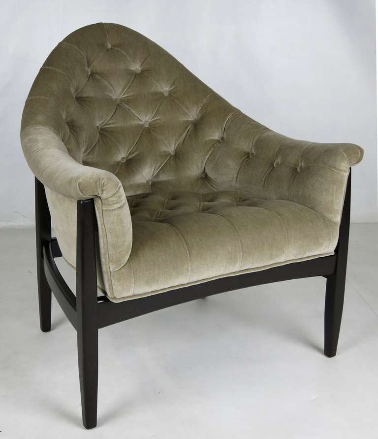 American Rare Exposed Frame Lounge Chair by Milo Baughman for Thayer Coggin For Sale