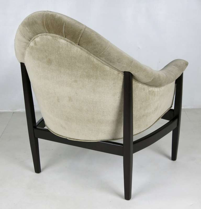 Rare Exposed Frame Lounge Chair by Milo Baughman for Thayer Coggin In Excellent Condition For Sale In San Leandro, CA