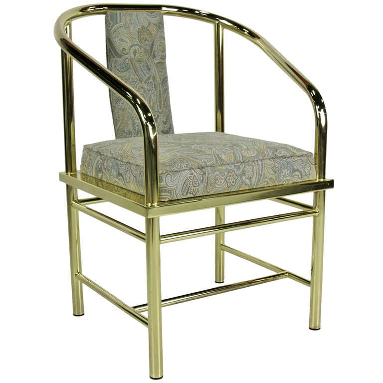Italian Brass Desk or Vanity Chair For Sale at 1stdibs