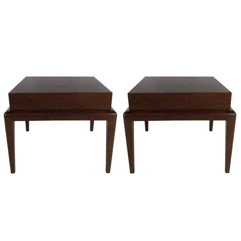 Pair of Mahogany Side Tables by Seth Ben-Ari For Sale