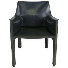 Rare Grey CAB 413 Chair by Mario Bellini for Cassina