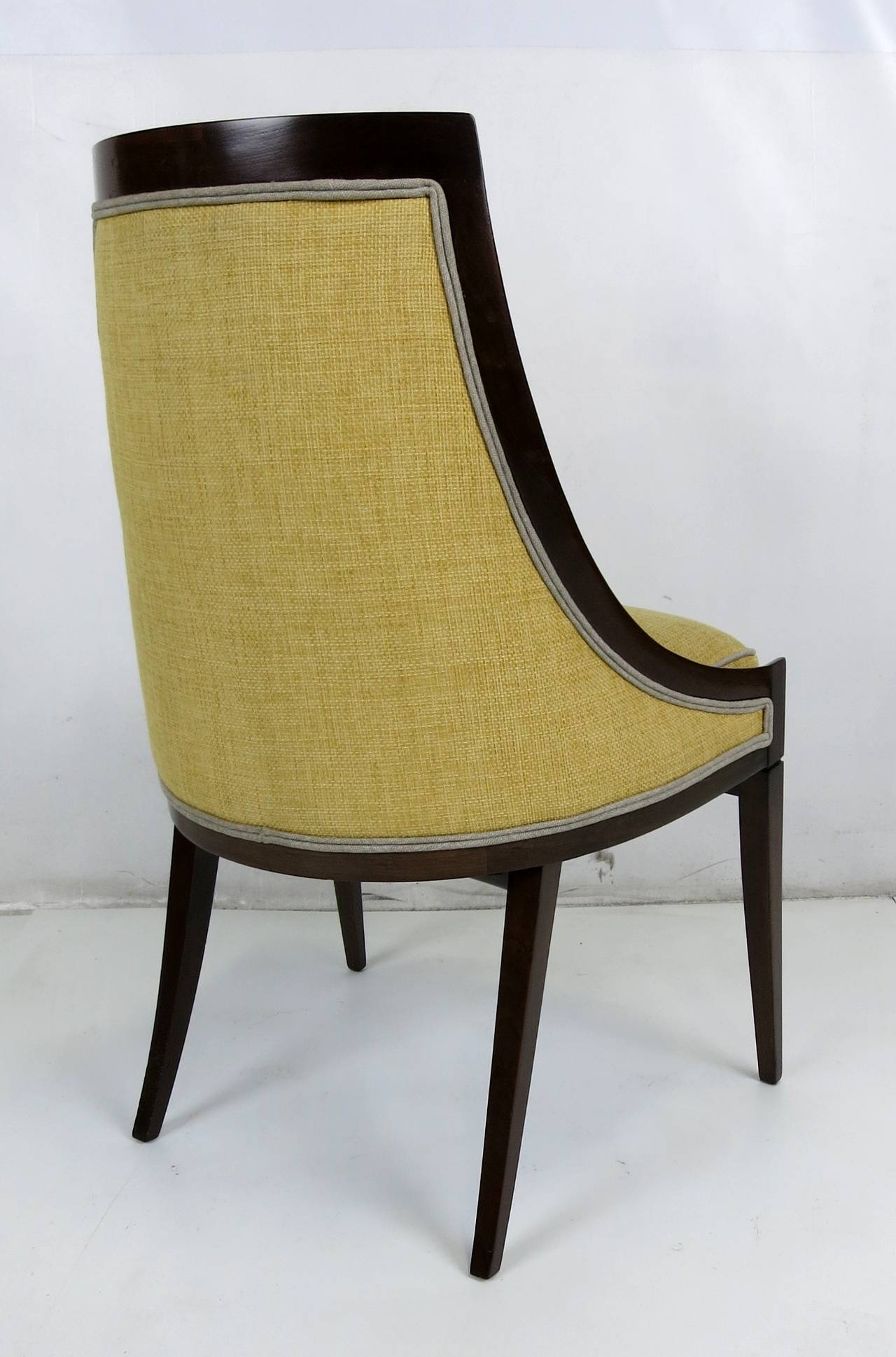 set of four dining chairs by harvey probber at 1stdibs. Black Bedroom Furniture Sets. Home Design Ideas