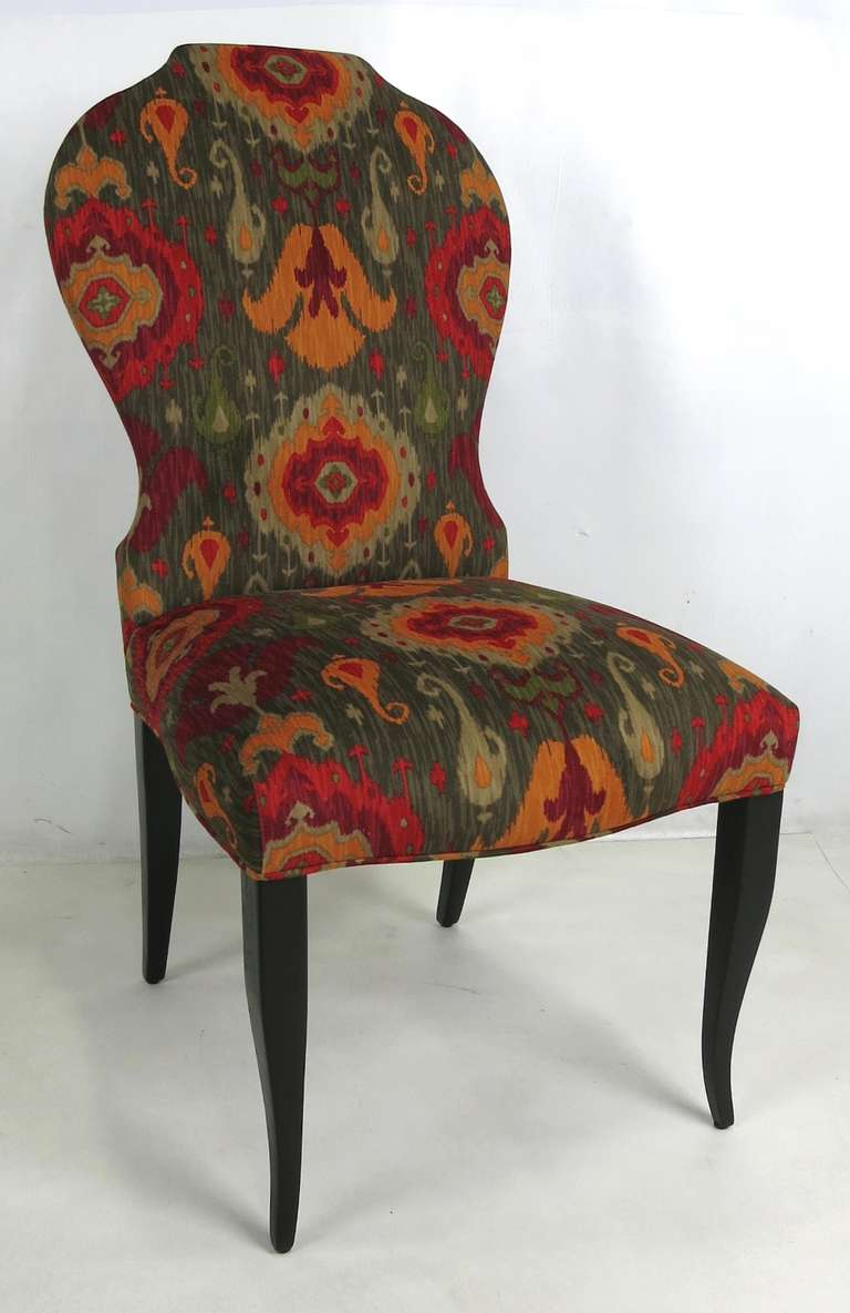 this set of six queen anne modern style dining chairs is no longer
