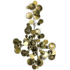 "Original Brass ""Raindrops"" Sculpture by C. Jere- signed 1972"