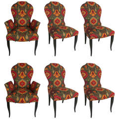 Set of Six Queen Anne Modern style Dining Chairs