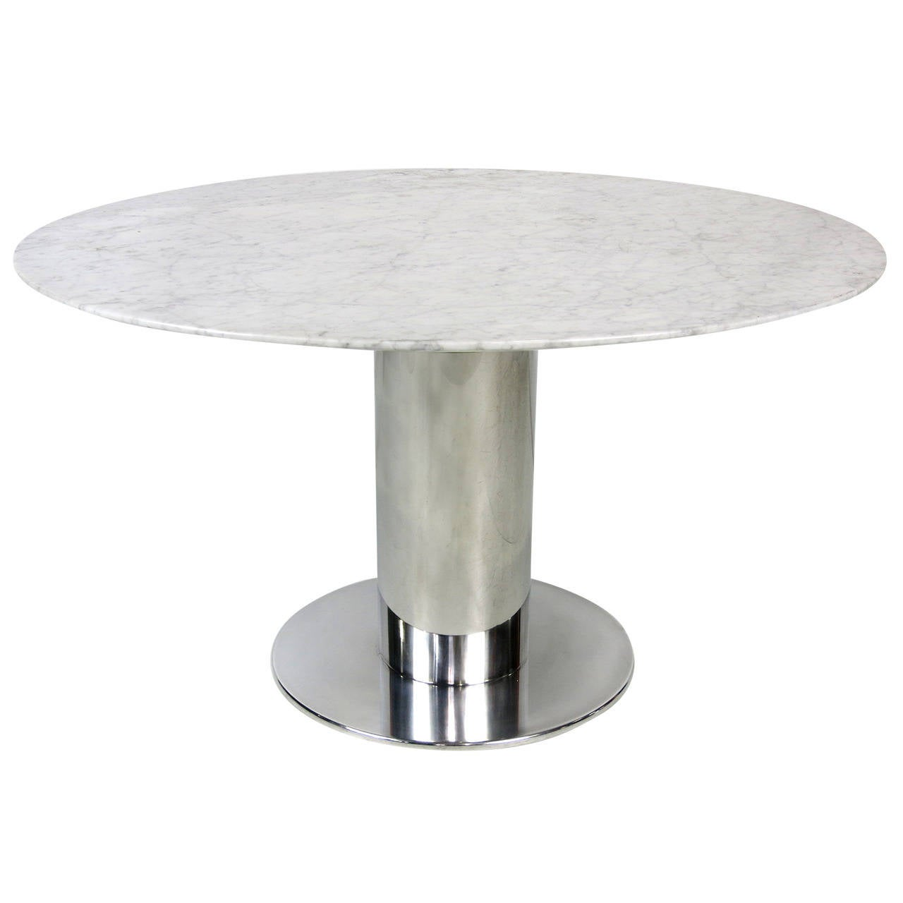 Polished stainless steel dining table base for sale at 1stdibs for Dining table base