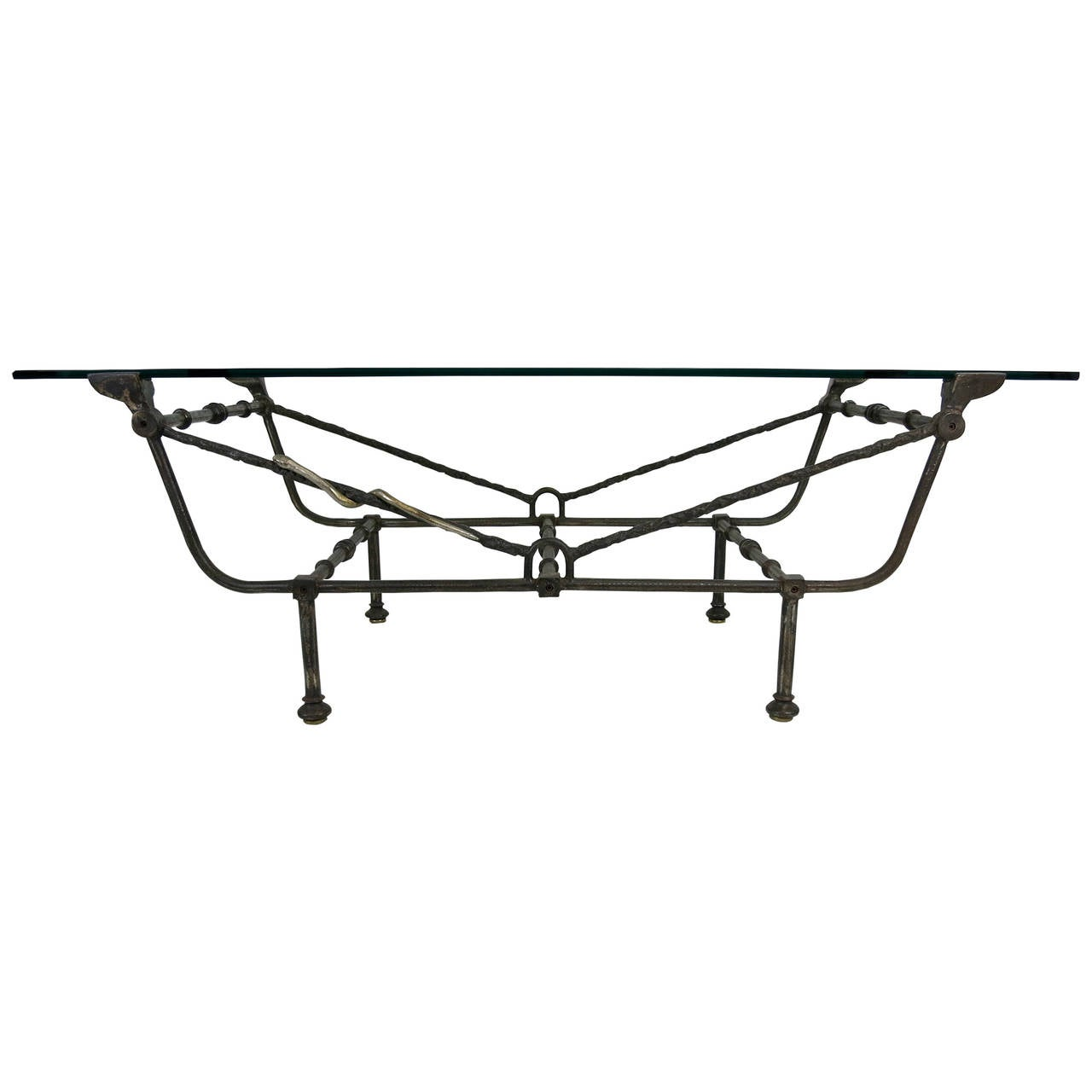 Giacometti Style Iron Coffee Table At 1stdibs