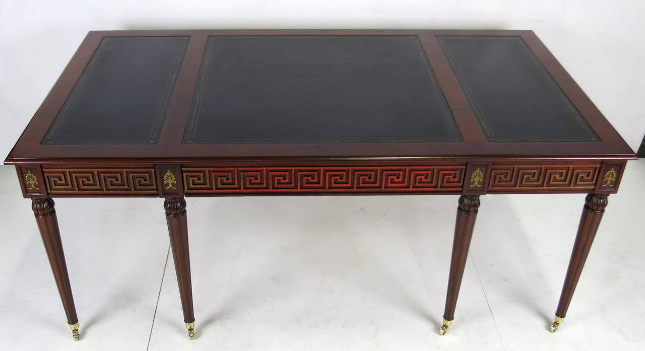 Regency Style Partners Desk by Mario Buatta In Excellent Condition For Sale In San Leandro, CA