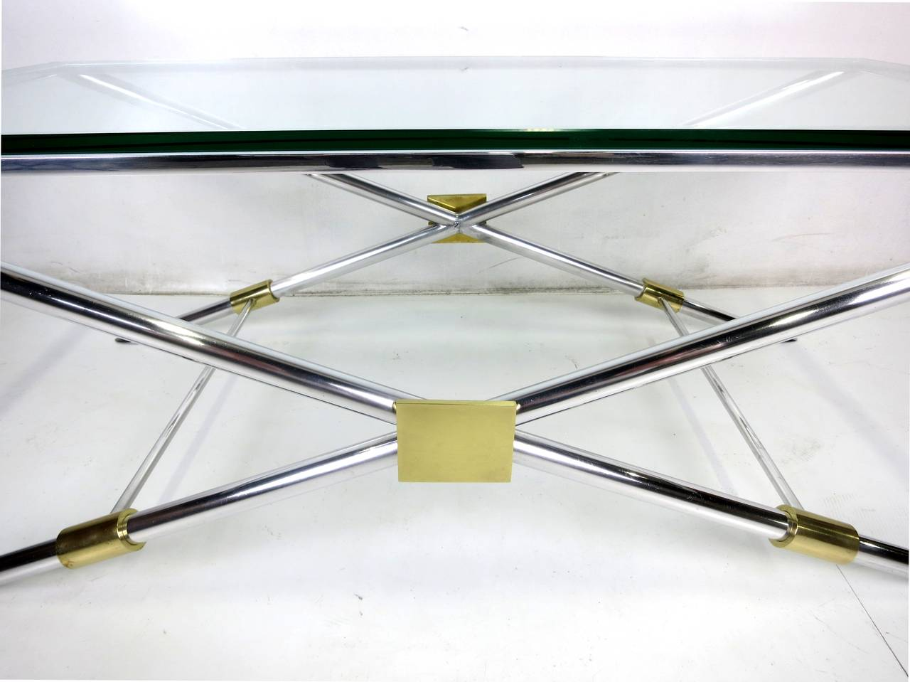 American Rare John Vesey X-Base Coffee Table For Sale