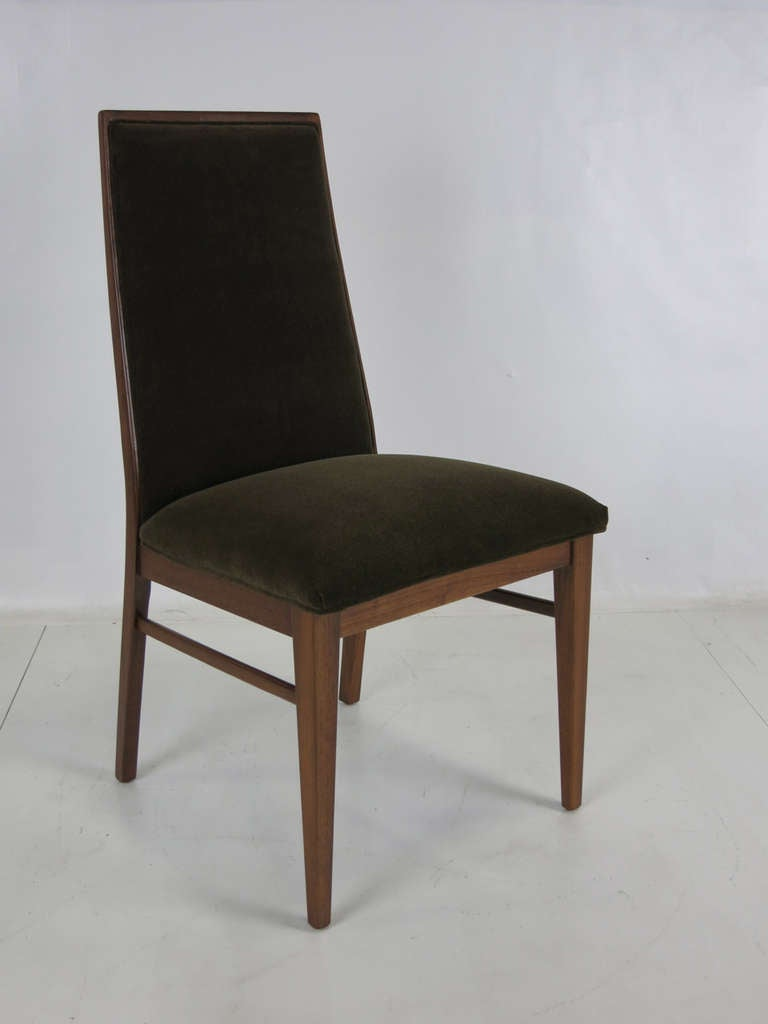 Set of Six Walnut Dining Chairs by Kipp Stewart In Excellent Condition In San Leandro, CA