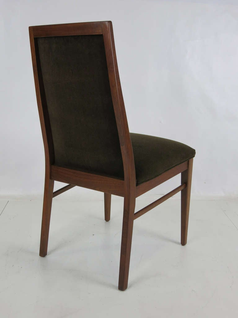 Mid-20th Century Set of Six Walnut Dining Chairs by Kipp Stewart
