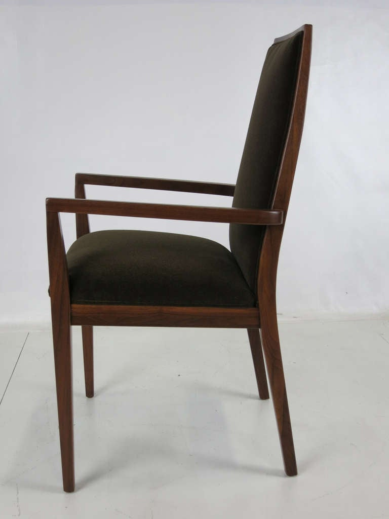 Set of Six Walnut Dining Chairs by Kipp Stewart 2