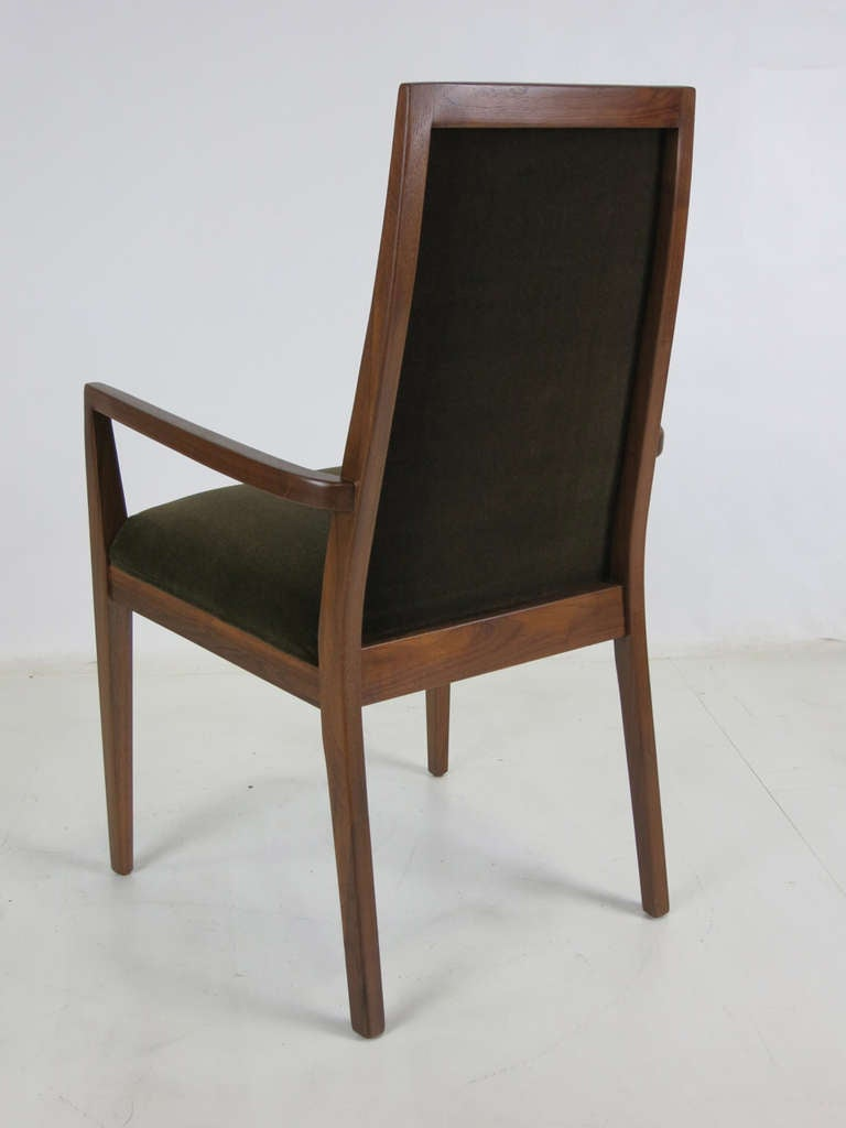 Set of Six Walnut Dining Chairs by Kipp Stewart 3