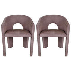 """Pair of """"Scholaris"""" Lounge Chairs by Stanley Jay Friedman"""