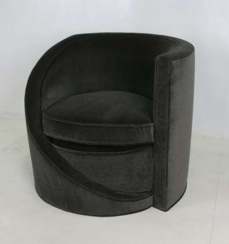American Pair of Spiral Lounge Chairs For Sale