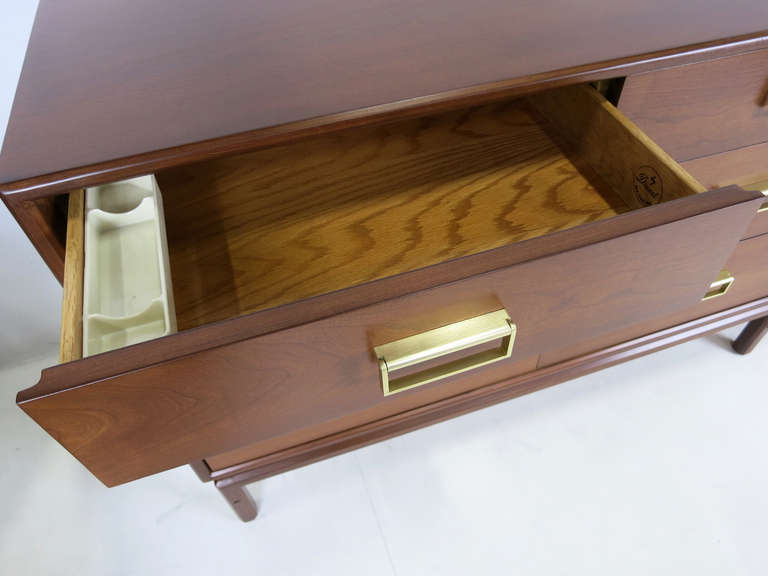 "Rare ""Sun Coast"" Walnut Dresser by Kipp Stewart for Drexel 6"