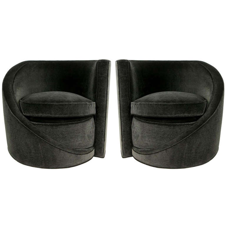 Pair of Spiral Lounge Chairs For Sale