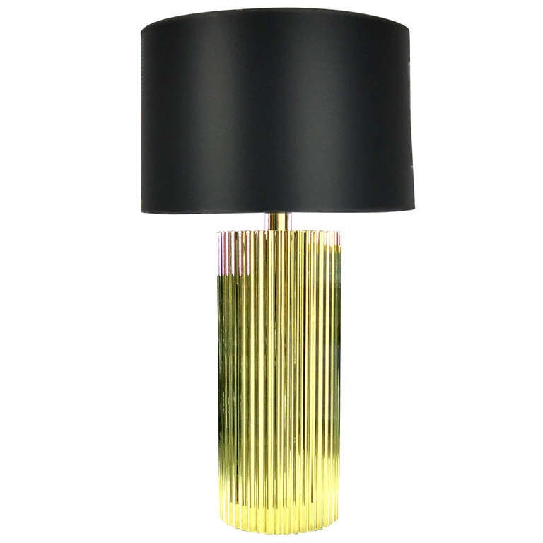 """Polished Brass """"Corduroy"""" Table Lamp by Harry Lawenda for Boyd Lighting"""