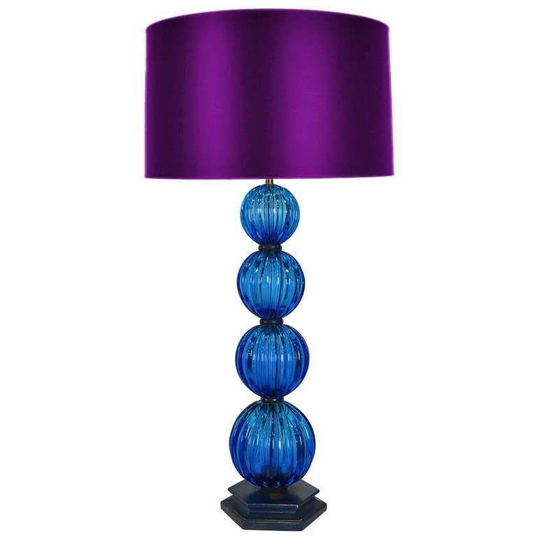 Stacked Murano Glass Spheres Table Lamp by Seguso