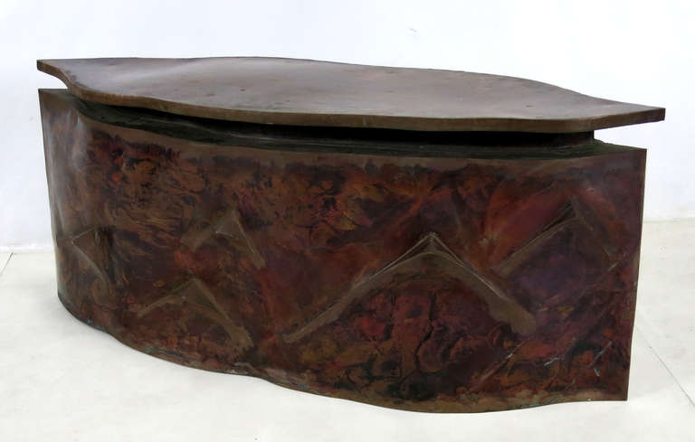 Sculptural Bronze Coffee Table in the Style of Philip & Kelvin Laverne For Sale 5