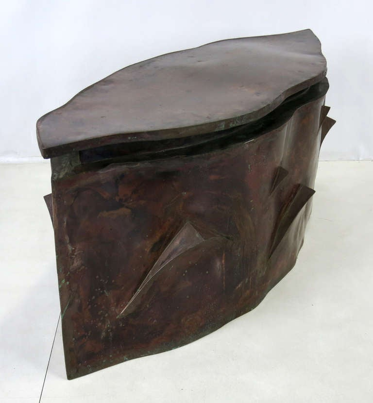 Sculptural Bronze Coffee Table in the Style of Philip & Kelvin Laverne For Sale 3