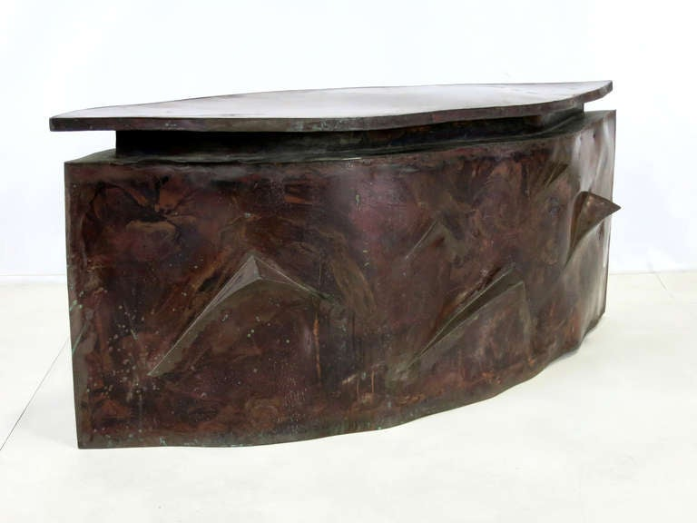 Sculptural Bronze Coffee Table in the Style of Philip & Kelvin Laverne For Sale 2
