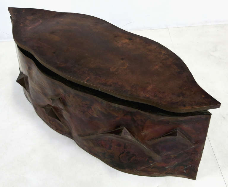 Sculptural Bronze Coffee Table in the Style of Philip & Kelvin Laverne For Sale 1