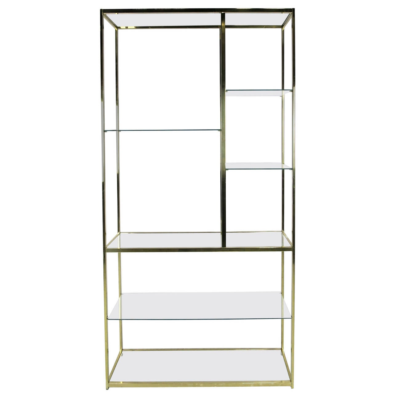 Chic polished brass etagere at 1stdibs for Etagere campagne chic