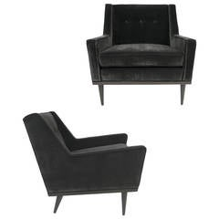 Early Pair of Lounge Chairs by Milo Baughman for James, Inc.