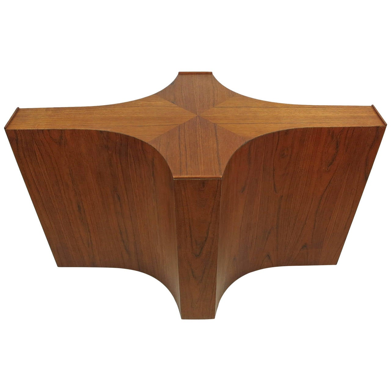bases for dining room tables | Large-Scale Walnut Cruciform Dining Table Base at 1stdibs