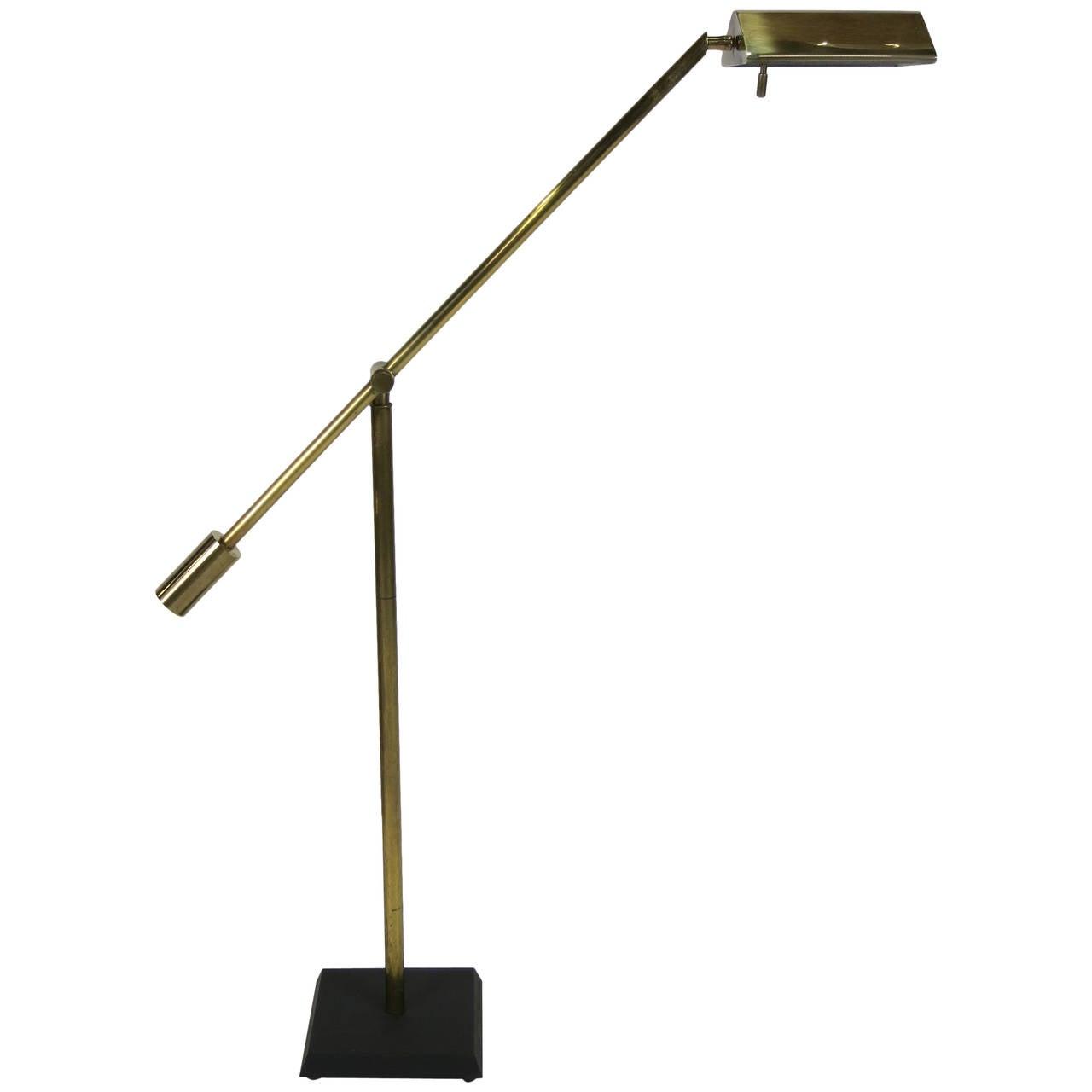 Fine Brass Swing Arm Pharmacy Lamp by Frederick Cooper