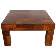 Patchwork Walnut Burl Coffee Table by Paul Evans for Directional