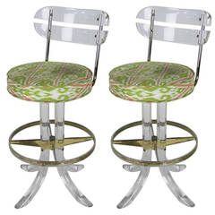 bar stools pair of lucite