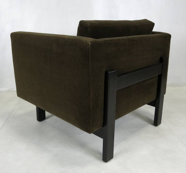 Pair of Harvey Probber Open-Frame Lounge Chairs In Excellent Condition For Sale In San Leandro, CA