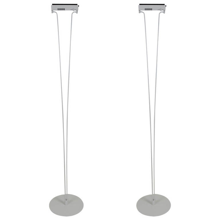 "Pair of ""Silver Cloud"" Floor Lamps by Piotr Sierakowski for Koch & Lowy"