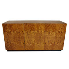 Bookmatched Olive Burl Cabinet by Pierre Cardin
