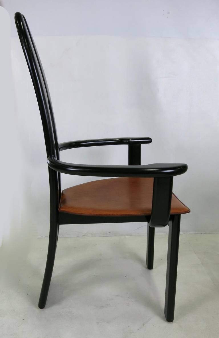 Set of Six Italian Avant Garde Dining Chairs  In Excellent Condition For Sale In San Leandro, CA