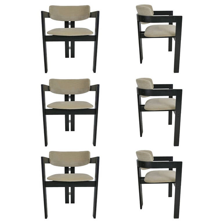 six italian modern dining chairs at 1stdibs